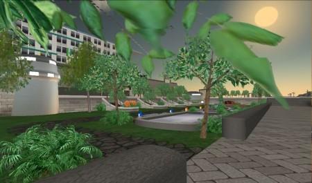 『Second Life』内で展開しているウッドホテル