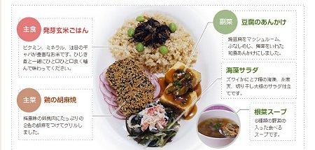 「かむかむ30」第一弾の「発芽玄米の健康プレート&スープ」