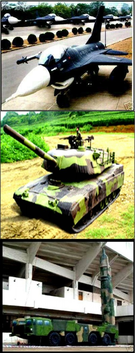 F-16戦闘機、M1エイブラムス戦車、そしてスカッドミサイルキャリアー。安いものだと(M4シャーマン戦車)5000ドル強から販売中。