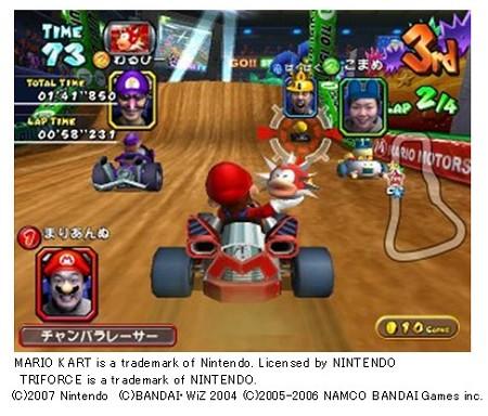 『マリオカート アーケードグランプリ2』ゲーム画面。