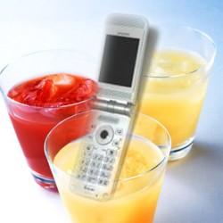 ジュースで携帯の電池補充イメージ