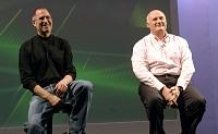 EMIグループのCEOエリック・ニコリ氏とAppleのCEOスティーブ・ジョブズ氏イメージ