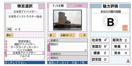 ゲーム……というか資格試験画面。