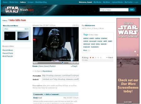 人気の高い動画のページ。コメントスタイルなどはほぼYouTubeのもの。