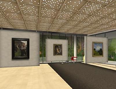 スウェーデン国立美術館in『セカンドライフ』。