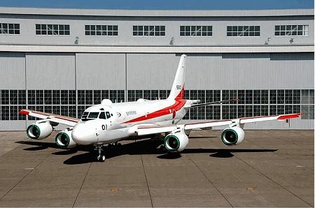 次期固定翼哨戒機XP1(各系統の作動確認中状態)