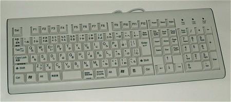 SKB-A1U 日本語USBキーボード全景。