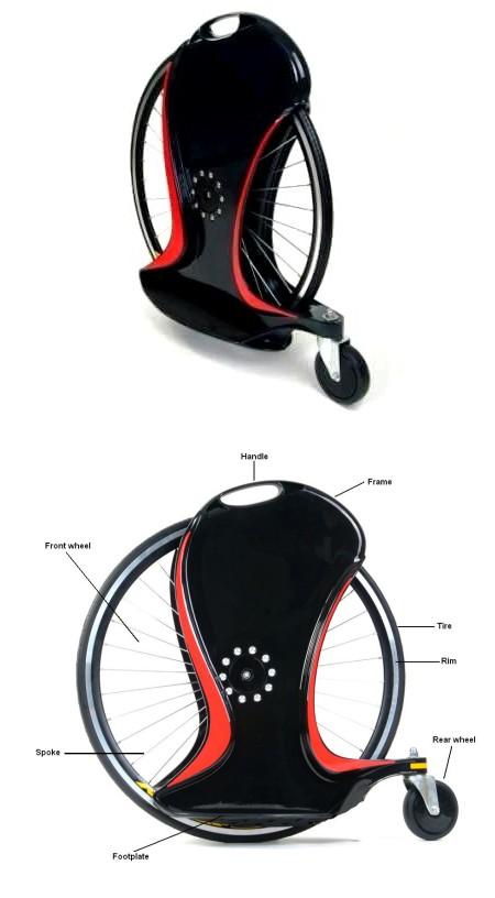 Magic Wheel全景図。一輪車+スケートボード。