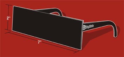 黒目線サングラスことBlack Bar Sunglasses。俗に言う「リアル名無しさんモード用サングラス」というところか。