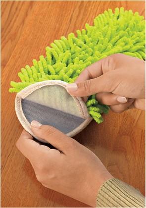モップ部分は取り外して洗濯可能。