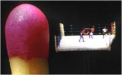マッチ棒の頭サイズのリングで繰り広げられるボクシング