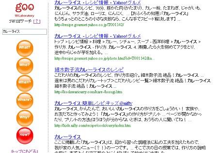 「5W1H検索」画面。