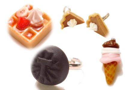 チャームや指輪など、美味しそうなアイテムがもりだくさん。