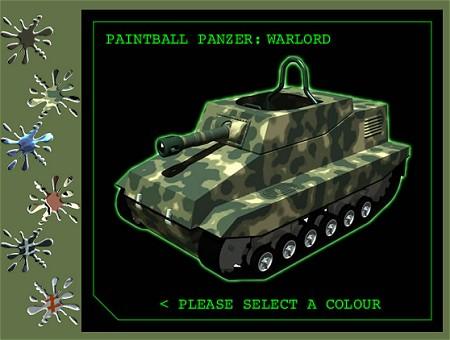 「6色」と説明があるがベタの原色ではなく、さまざまな迷彩色など「戦車らしい色」から選べる。