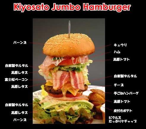 清里ジャンボハンバーガー。大きいよっ。