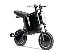 ガソリンエンジン以外の車両も複数出品されるが、個人的にお気に入りなのがこの「ボビー」。シートや後輪、ハンドルなどが折りたためてコンパクトに収納できる電動スクーター。Felica機能の携帯電話があれば電源のスイッチングが出来るとのこと。折りたたみ式自転車の感覚で使える電動スクーターならニーズは高いかも(……持ち運びはムリかな?)。