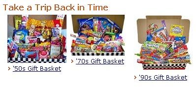 年代別お菓子セット。「その時代への誘い」というところか
