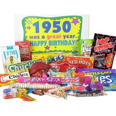 50's Retro Candy Decade Birthday Gift Box Jr. - Nostalgic Candy: 1950