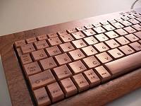 楽天市場内に販売されている木製キーボードイメージ