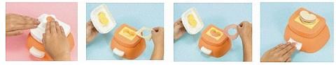 「いち・にっ・サンド!」でのサンドイッチ作成工程