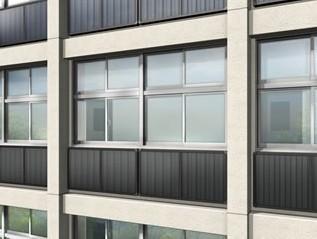 「ソーラーウォール」を設置した外壁