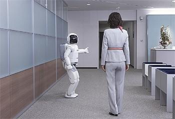 人間の移動先を推測して道を譲るASIMO