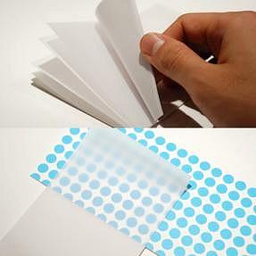 「貼ったまま読める透明付箋紙(ふせんし)」