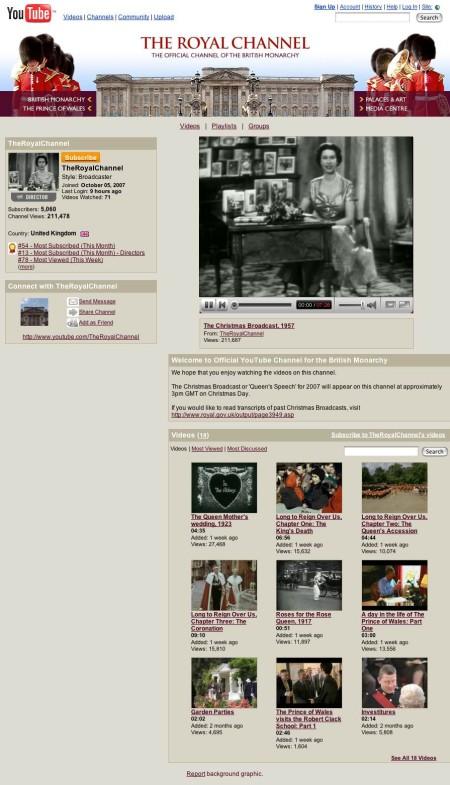 英国王室の「王室チャンネル」。歴史的映像やロイヤル・ファミリーの近況を映し出した動画も。