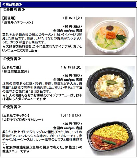 「冬に食べたい健康メニュー」の品々