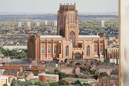 ほぼ完成した「The Anglican Cathedral」部分