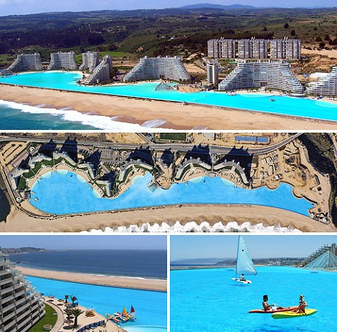 南米チリに登場した夢の楽園、世界最大の海水プールSan Alfonso del Mar
