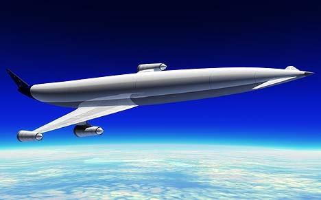「A2」。旅客機というよりはロケットに近い。離着陸は普通の飛行機と同じようだ。