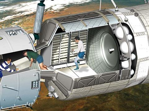 宇宙服を着なくともATVに乗り込み、荷物の運搬が出来る