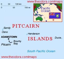 ピトケアン諸島の位置