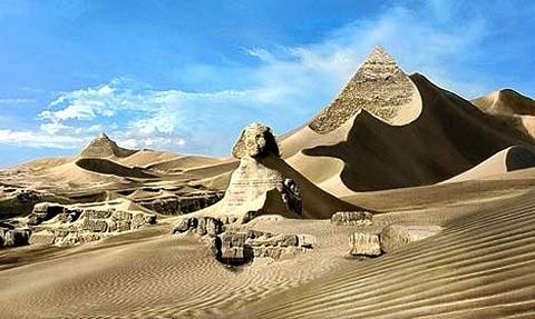 スフィンクスやピラミッドは100年程度の経過ではびくともしない。
