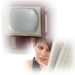 テレビと新聞イメージ