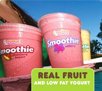 Dunkin Donuts Large Tropical Fruit Smoothie