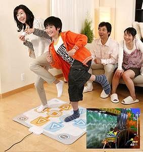家族みんなでファミリートレーナーをプレイ中