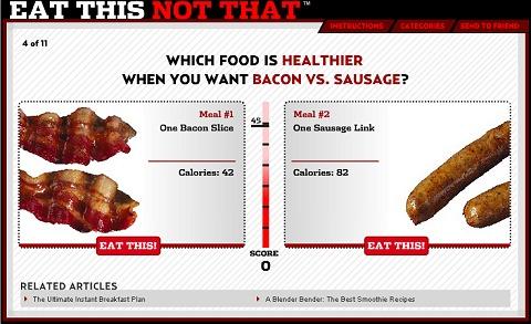Eat This, Not That game:Junk Food Alternatives。いや、どちらも不健康そうにみえるのですが。