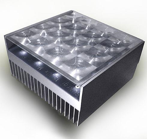 「concentrated photovoltaic」システムを用いたSUNRGI社の太陽光発電ユニット