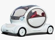 2005年の東京モーターショーで発表された次世代電気自動車コンセプトカー「ピボ(PIVO)」イメージ
