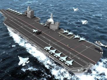 イギリスの新型空母・Queen Elizabeth級(イギリス海軍資料)