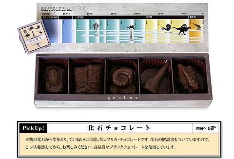 化石チョコレート
