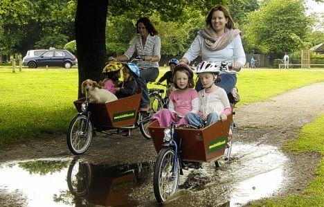 子ども連れの通学もこれで安心!? Wheelbarrow-bike