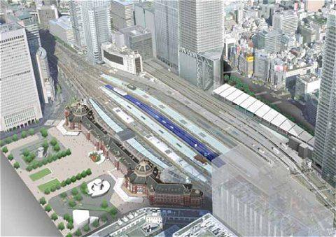 太陽光発電パネル設置の東京駅イメージ