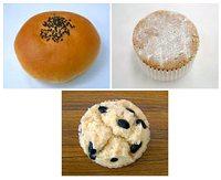 「あんぱん」「シフォンケーキ」「蒸しパン」イメージ