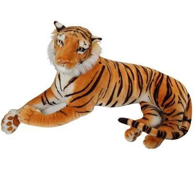 アドベンチャーワールド製ではないが、ほぼ同サイズの虎のぬいぐるみ