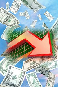 株価下落イメージ