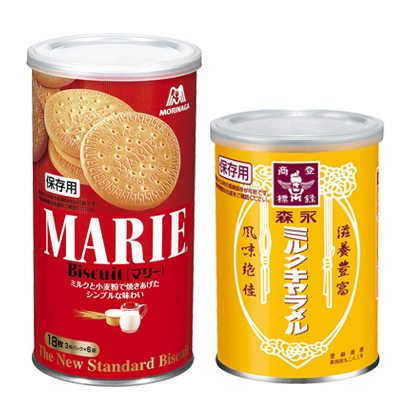 『マリー缶』『森永ミルクキャラメル缶』