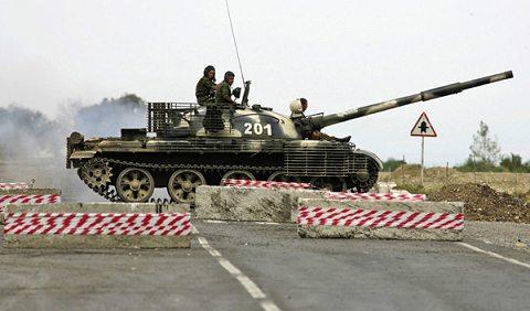 グルジア侵攻で用いられているT-62